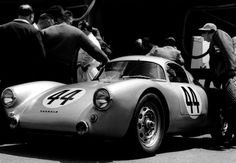 1953 Le Mans 24 Hours – Hans Herrmann shared the Porsche 550 Coupe with Helmut Glocker, finishing 16th overall