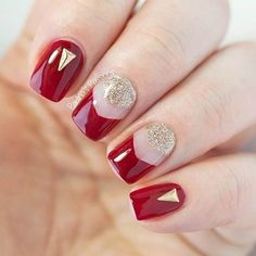 RED-GOLD-NAILS.jpg (620×620)