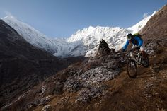 mandil riding down from the lantang valley