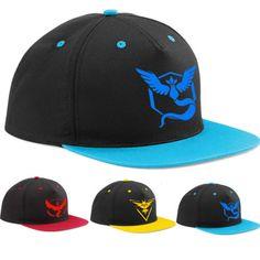 Pokemon Go Team Mystic / Instinct / Valor Fashion Baseball Cap (cod: ev-a) World of Ash    #WorldOfAsh #PokemonGO #Pokemon