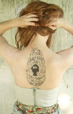 """""""And days went by like paper in the wind."""" Such a huge fan of this #tattoo. So beautiful!"""