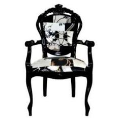 rococo style chair with modern upholstery