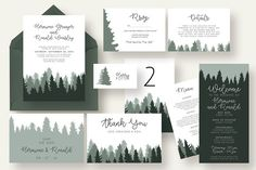 Woods Wedding Invitation Suite by Knotted Design on @creativemarket