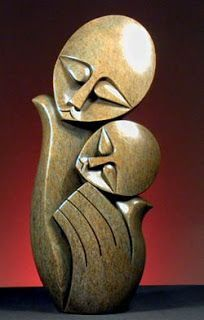 Shona Sculpture Tapiwa Mashe the Beauty of Art and Love Stone Sculpture, Sculpture Clay, Abstract Sculpture, African Sculptures, Sculptures Céramiques, Wood Carving Art, Wood Art, Art Pierre, Sculpture Projects