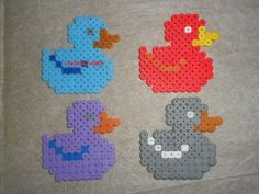 canards hama beads by creation-nath