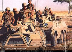 Eventually SA launched Operation Savannah - which involved sending small numbers… Army Games, World Conflicts, Army Day, Brothers In Arms, Defence Force, Iron Fist, Rest Of The World, African History, Armored Vehicles