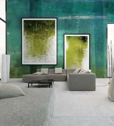 Panoramic wallpaper WALL Watercolor Collection by N.O.W. Edizioni