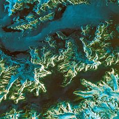 Antarctica as seen by satellite images from the earth-observatory project of European Space agency.