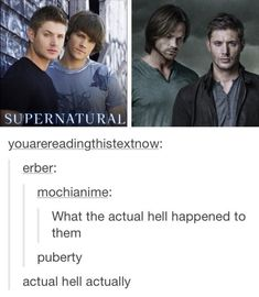 37 Pictures That Will Make You Smile - Gallery Supernatural Tattoo, Supernatural Memes, Supernatural Wallpaper, Winchester Supernatural, Your Smile, Make You Smile, Comic, Winchester Boys, Winchester Brothers