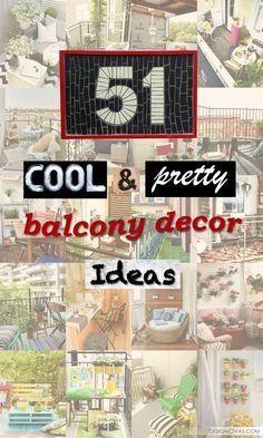 51 cool and pretty balcony decor ideas