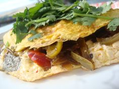 Busy Vegetarian Mom: Fiesta Omelet
