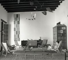 sala de estar diseñada por Miguel Arroyo en 1953. exposición en Americas Society.NY. #pictureoftheday #viendoarquitecturas
