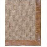 $359.00  Leather Border Pampas Latte Contemporary Rug - 3007812