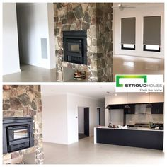 Have you got your heating sorted this winter? Check out this double-sided fireplace Stroud Homes Wagga Wagga did for one of their clients this winter. #stroudhomes #feelslikehome #blackandwhitequotes #fireplace #winter