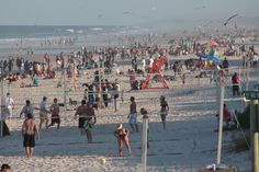 Jacksonville Beach, FL on a packed day, super busy