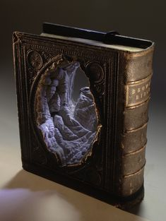 amazing book sculpture by Guy Laramee