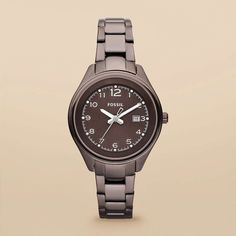 FOSSIL® Watch Styles Natural Watches:Women Flight Stainless Steel Watch - Brown AM4383