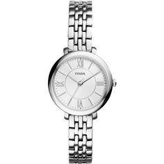 Fossil Women's Jacqueline Stainless Steel Bracelet Watch 26mm ES3797 (€105) ❤ liked on Polyvore featuring jewelry, watches, bracelets, accessories, montres, no color, stainless steel watch bracelet, stainless steel wrist watch, fossil jewelry y stainless steel jewelry