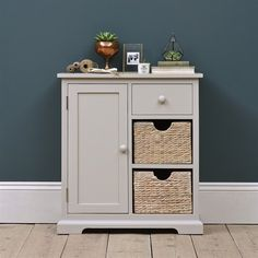 Farmhouse Painted Extra Small Sideboard - Ivory - The Cotswold Company Hallway Furniture, Dining Room Furniture, Entryway Decor, Furniture Design, Kitchen Larder, Ivory Paint, Pantry Cupboard, Small Sideboard, Bathroom Essentials