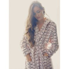 stay warm with candy-dot #pink #robe #soft #cute #comfy #cozy #winter #spa #home  #Tourance #TouranceLady #MadeInUSA