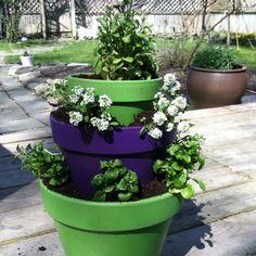 Tri level planter