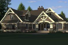 Craftsman Style House Plan - 4 Beds 3 Baths 2372 Sq/Ft Plan #51-572 Exterior - Front Elevation - Houseplans.com