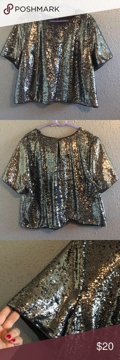Forever 21 sequin Crop Top 💕 Only wore it once for about 4 hours, it's fitted Forever 21 Tops Crop Tops