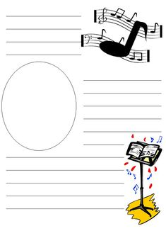 Music Notes Notebooking Paper