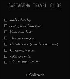 Things to do in Cartagena via Fashionably Lo