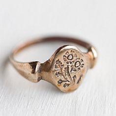 bronze feverfew ring // terrain