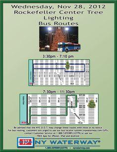 Rockefeller Center Tree Lighting NY Waterway Bus Routes