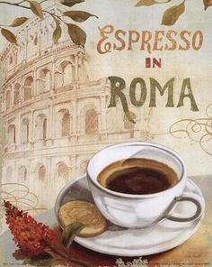 One day, maybe, Jose and I can have a cup of coffee in Rome.  Cafe in Europe - Lisa Audit