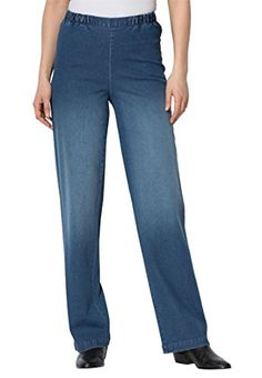 2859ab42cff79 Tall Wideleg Pull On Denim - Women s Plus Size Clothing. Shahnaz · pants