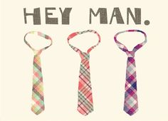 a cute way to say hi to the men in your life. Love this card!