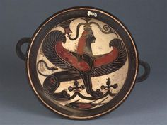 Laconian black-figure kylix, ca. 570 BC. Attr. to Naucratis Painter
