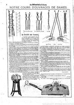 """La Dentelle aux Fuseaux. Notre cours d'ouvrages de dames. Les Dimanches de la femme : supplément de la """"Mode du jour"""" 1923/08/19 (A2,N76)."""
