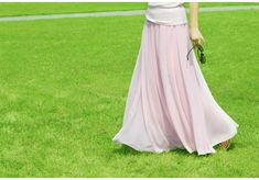 Stylish Chiffon Long Maxi Skirt
