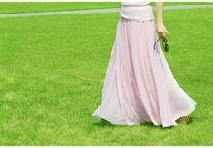 Stylish Chiffon Long Maxi Skirt
