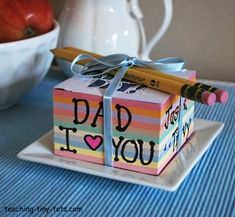 Decorate a Note Cube from Teaching Tiny Tots
