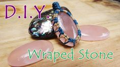 How to make wrapped stones with cotton waxed thread