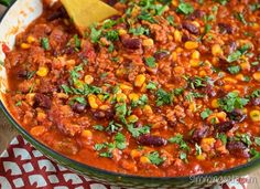 Slimming Eats Turkey Chilli - gluten free, dairy free, Slimming Eats and Weight Watchers friendly