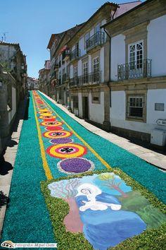 Tapetes de Flores - Corpo de Deus pelo Município de Ponte de Lima.Portugal