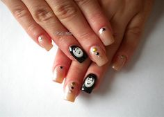 Audrey Hepburn by Kiki_White from Nail Art Gallery