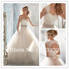 2013 New Arrival Design Elegant Lace Beaded With Crystal Removable Jacket Sleeves Lace Backless Long Wedding Dress Bridal Gown-in Wedding Dr...