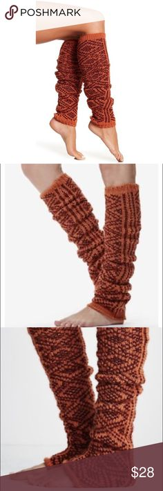 Free People Paloma Printed Knit Leg Warmers Orange Free People Paloma Printed Knit Leg Warmers Orange. 100% acrylic in a thick knit pattern of orange and maroon. Wear in a number of ways. New with tags; one size fits most. A01060. Free People Paloma Printed Knit Leg Warmers. Free People Accessories Hosiery & Socks