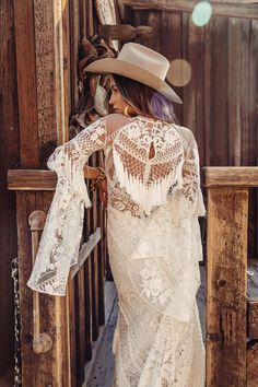 The ultimate Boho bridal Designer Rue de Seine have a beautiful new collection Moonrise Canyon. Take a sneak peek at their beautiful Boho bridal gowns. Western Wedding Dresses, Bohemian Wedding Dresses, Dream Wedding Dresses, Bohemian Weddings, Indian Weddings, Unique Weddings, Lace Bridal, Bridal Style, Bridal Gowns