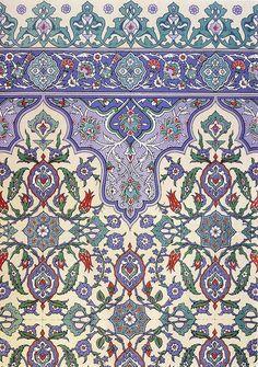Wall tiling decoration 17th century, via Flickr.