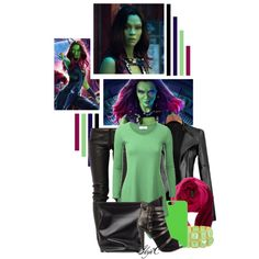 Gamora - Marvel's Guardians of the Galaxy by rubytyra Gamora Marvel, Marvel Fashion, Super Hero Outfits, Fandom Fashion, Disneybound, Guardians Of The Galaxy, My Outfit, Style Inspiration, Movie Outfits