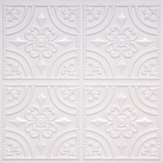 "Decorative Ceiling Tiles, Inc. Store - Wrought Iron - Faux Tin Ceiling Tile - Glue up - 24""x24"" -"