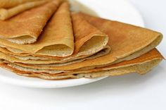 Gluten free whole-foods plant-based crêpes. Buckwheat Crepes, Vegan Crepes, Vegan Bread, Best Bread Recipe, Bread Recipes, Whole Food Recipes, Chapati, Gluten Free Recipes, Vegetarian Recipes